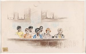 Jurors: Which can be excluded on the basis of race, age, gender? From the Yale Collection of American Literature